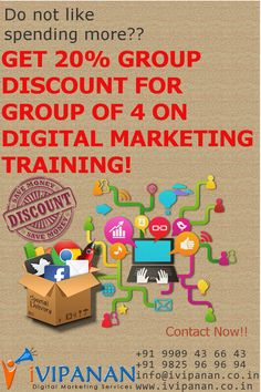 Special Offer for Group Training. Avail 20% discount on Digital Marketing Fees for group of 4.