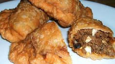 These fried empanadas are the best! Raisins and eggs make this recipe extra delicious believe it or not!