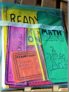 summer practice activities - place everything in a Ziploc and send home with students before summer break