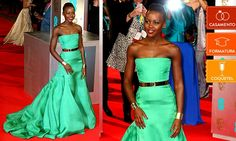 Verde Red carpet Lupita Long dress Haute couture green