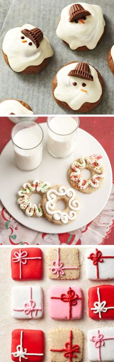 Holiday cookie decorating and #recipes totally making these for the Christmas party at work! Christmas Sugar Cookies, Christmas Cookie Exchange, Christmas Treats, Christmas Goodies, Christmas Desserts, Holiday Cookies, Holiday Baking Ideas Christmas, Christmas Cookie Boxes, Holiday Decorating