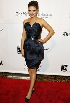 mila kunis and her dress is ADORABLE