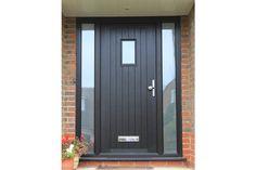 24 best bungalow hallway ideas images in 2019 Cottage Style Doors, Cottage Front Doors, Grey Front Doors, Porch Doors, Cottage Door, Modern Front Door, Front Door Entrance, House Front Door, House Entrance
