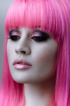 the eyes, the hair, the mouth...pink!