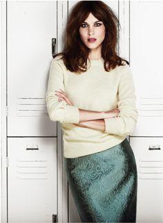 Alexa Chung for Flare Magazine November 2013