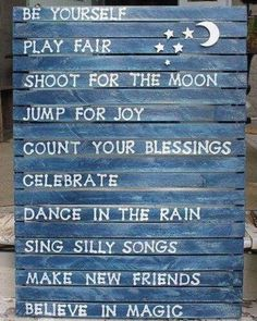 Rules for the kids' playhouse,and for day in the life for all