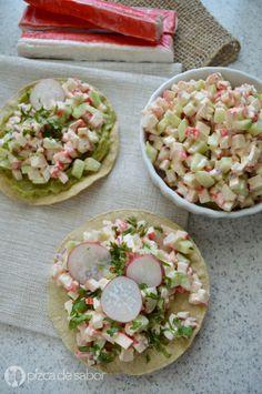 Ensalada de surimi (kanikama - palitos de cangrejo) www.pizcadesabor.com