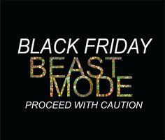 Black Friday Beast Mode DIY Iron On Bling Transfer Black Friday Shopper Team Black Friday Iron ons for Black Friday Shirts