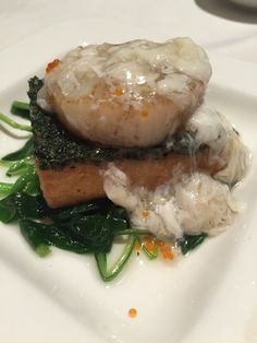 Home made tofu with scallop and spinach - The Cathay at Cathay Handy rd SG