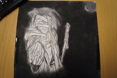 Kohlestift zeichnung made by Wunderdings-Kathi Gmeis// idee Unbekannt Dark Side, The Darkest, Soapstone, Do Your Thing, Crafts, Stones, Do Crafts