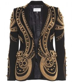 EMILIO PUCCI   Pearlie Queen Metallic Bead Embroidered Blazer