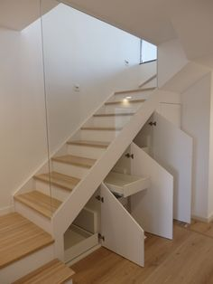 Staircase with lower cabinets Staircase with lower cabinets Staircase with lower cabinets Sta. Home Staircase with lower cabin Staircase Storage, House Staircase, Staircase Makeover, Loft Stairs, Staircase Railings, Stair Storage, Staircase Ideas, Stairs With Storage, Staircases
