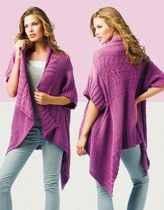 Designs for women by Katia #winter #autumn 2014 / 2015 #pinkstyle #knitting #katiayarns #freepattern