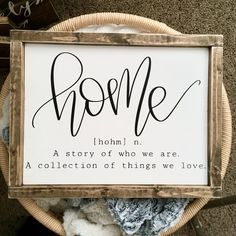 Housewarming gift home sign wedding gift new home sign wood home sign home