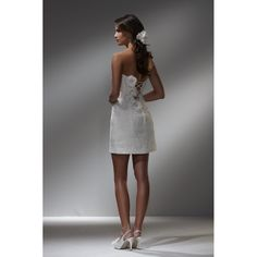 Tea Length Wedding Dresses for Beach Weddings Short Strapless Simple Beach Wedding Dresses hihsna19