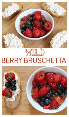 Fresh mixed berries and creamy cottage cheese come together to make one sweet berry bruschetta. Enjoy al fresco as a snack or meal on any hot summer day! @MomNutrition