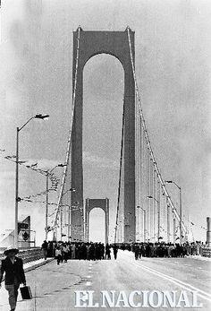 Inauguración del Puente de Angostura sobre el río Orinoco en el estado Bolívar. 07-01-1967 (ARTURO BOTTARO / ARCHIVO EL NACIONAL)