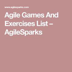 Agile Games And Exercises List – AgileSparks