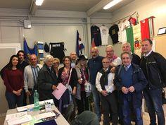 Delegazioni dei Rotary Club di Lincelles (Francia) e di Mariemont (Belgio)