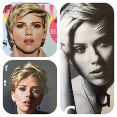 Scarlett Johansson's short hair.....❤️