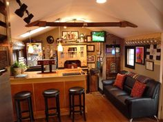 Man cave shed interior ideas turning your shed into a bar is pure genius photos suburban . man cave shed interior ideas Man Cave Garage, Garage House, Man Cave Shed, Man Shed, Man Cave Basement, Garage Bar, Man Cave Home Bar, Garage Office, Garage Ideas