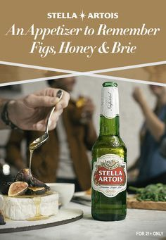 Make hosting sweet & simple this summer. Host your guests with unique hors d'oeuvres – for example, add figs to your brie cheese & top it all off with a little bit of local honey. Throw in a little sweet talk & Stella Artois, and you'll be hosting one to remember in no time.