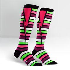 Stripe Bolt Women's Knee High Sock