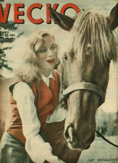 0 Ingrid Thulin with horse