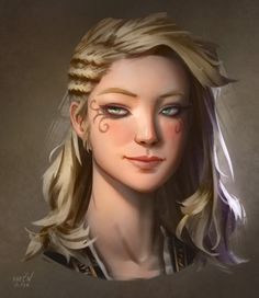 Hair reference Character Portraits (weareadventurers: Pirates by Magnus Norén . Character Design Cartoon, Fantasy Character Design, Character Art, Character Types, Character Sketches, Dnd Characters, Fantasy Characters, Female Characters, Lady Mechanika
