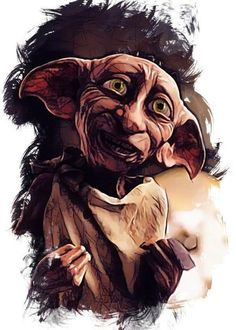 """Harry Potter Character Sketch Dobby artwork by artist """"Apocalypticaboy"""". Part of an set featuring artwork based on the Harry Potter . Dobby Harry Potter, Arte Do Harry Potter, Harry Potter Poster, Harry Potter Artwork, Harry Potter Drawings, Harry Potter Wallpaper, Harry Potter Pictures, Harry Potter Characters, Harry Potter World"""