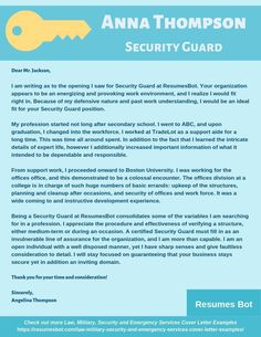 Want to create or improve your Security Guard Cover Letter Example? ⚡ ATS-friendly Bot helps You ⏩ Use free Security Guard Cover Letter Examples ✅ PDF ✅ MS Word ✅ Text Format Cover Letter Layout, Writing A Cover Letter, Cover Letter Example, Letter Sample, Security Guard, Resume Examples, Free Resume, Improve Yourself, Law