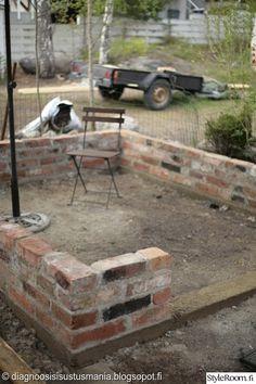tiili,kivijalka,muuraus,muuri,kasvihuone,piha,Tee itse - DIY