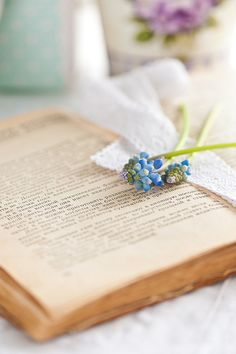 The book and flower
