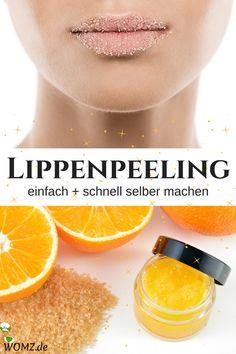 Lippenpeeling sorgt für weiche und zarte Lippen. Wenn du mit rauen Lippen zu kämpfen hast, dann solltest du das regelmäßig machen. So gibst du deiner Haut jede Menge Feuchtigkeit und Pflege zurück. Perfekt, gerade für die kalte Jahreszeit. Eine ganz einfache DIY Anleitung. #lippenpeeling #lipscrub #peeling #selbermachen #diy