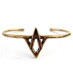 Mountain Bronze Cuff Bracelet