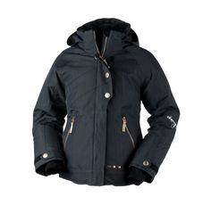 Obermeyer Girls Rival Jacket (Ebony) Girls Ski Jackets Girls Jackets Kids Jackets (Ages 6-16) Kids (Ages 6-16)