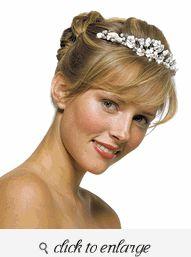White & Rum Pearl Floral Tiara - Bridal Tiara Ideas - Wedding Tiara Ideas