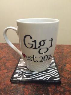 Gigi coffee mug established 2015 2016 cute by GlitzyGlitterGal
