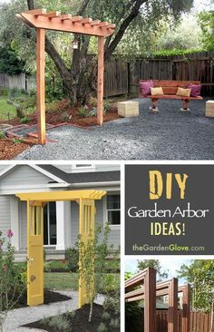 DIY Garden Arbor Ideas!  •  Learn how to build a simple garden arbor!