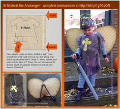 Complete instructions on how to make a St. Michael the Archangel costume.  http://designsbybirgit.blogspot.com/2013/10/st-michael-archangel-costume-for.html