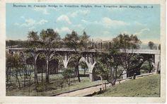 Harrison St. Concrete Bridge to Vermilion Heights, Over Vermilion River, Danville, Ill.
