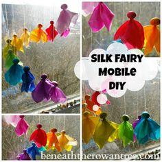 Beneath the Rowan Tree: Waldorf Inspired Craft : Silk Fairy Mobile (Tutorial + Link to DIY Kit)