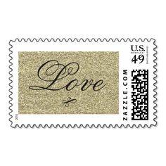 Glitter Love Stamp for Wedding