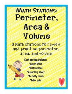 Math Stations: Perimeter, Area & Volume