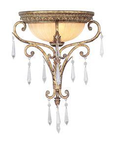 Crestwood Lindsay Wall Sconce, Vintage Gold Leaf at MYHABIT