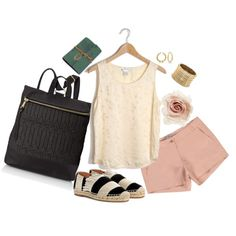 Check out this adorable summer look with our woven backpack!