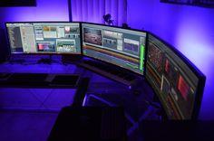"THREE LG UC-97 34"" curved LCD monitors in Eyefinity display (10320x1440 resolution!) - Techist - Tech Forum"