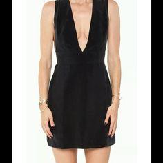 Anine Bing deep v neck dress Black silk deep v neck dress. 100% silk Made in Turkey Anine Bing Dresses Midi