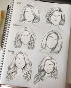 Hair practice ‍♀️ Which hairstyle is your favorite?? #fashiondrawing #fashionillustration #drawing #illustration #art #artist #fashionable #nataliamadej #sketch #outfits #fashionsketch #girl #art #wip #hairstyles #hair