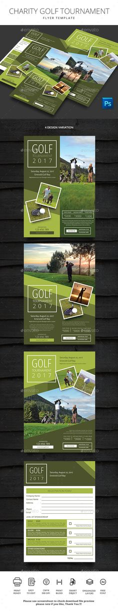 Vintage Golf Flyer Template Ai Psd  Flyer Design Templates